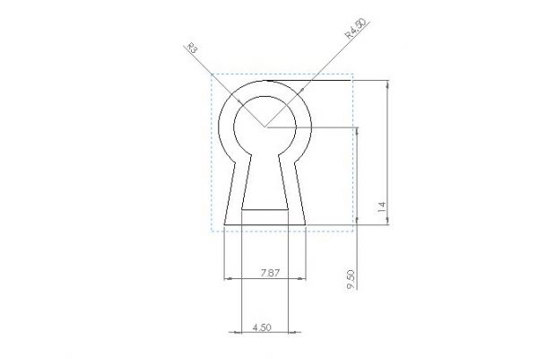 Thread escutcheon