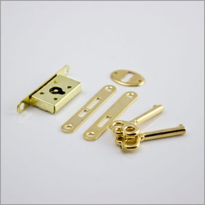 Jewelry box lock budget in gold finish