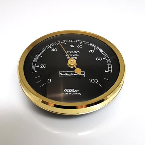 Hygrometer for Humidor. Brass Bezel