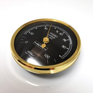 Hygrometer for Humidor. Brass Bezel