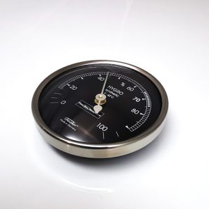 Hygrometer for Humidor. Stainless Steel Bezel