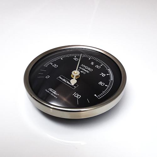Hygrometer for Humidor. Stainless Steel Bezel