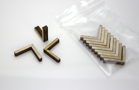 Internal wooden Mitre Keys for boxes and trays