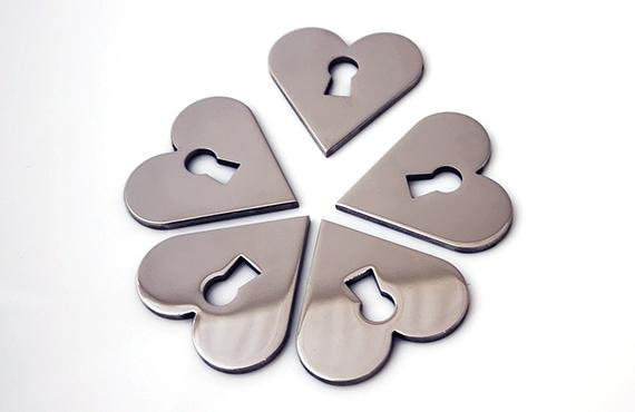 Heart Escutcheon (Stainless Steel)