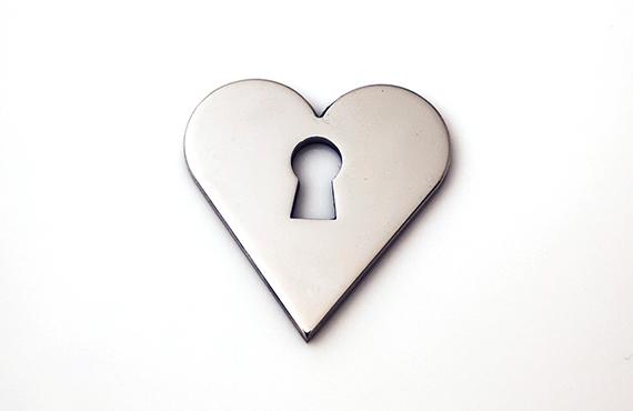 Heart Escutcheon Stainless Steel